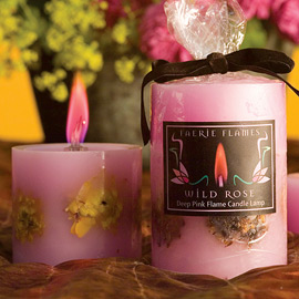 Color Flame Flower Candles