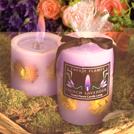 Flower Candle Lamps (Purple