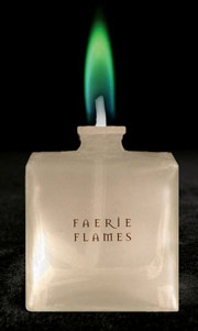 Green Colour Flame Lamp